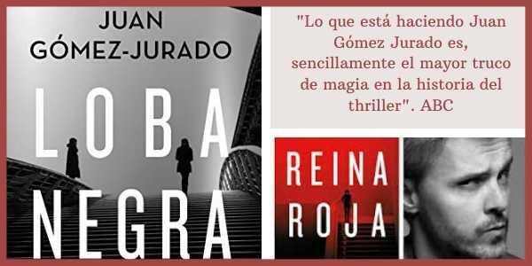 Portada del libro Loba Negra de Reina Roja y de su autor Juan Gómez Jurado.