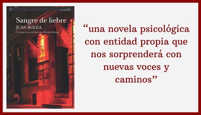«Sangre de liebre», novedad de enero de Juan Bolea